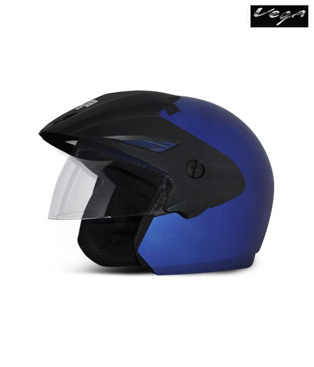 Vega Helmet - Cruiser With Peak (Dull Blue)