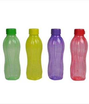 Tupperware Aquasafe Water Bottles (500 Ml) - Set Of 4 Water Bottles / Fridge Bottles