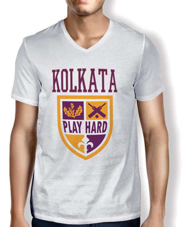 Anger Beast PATHAN-KOLKATA White Sweat Free T-Shirt for all Cricket Crazies
