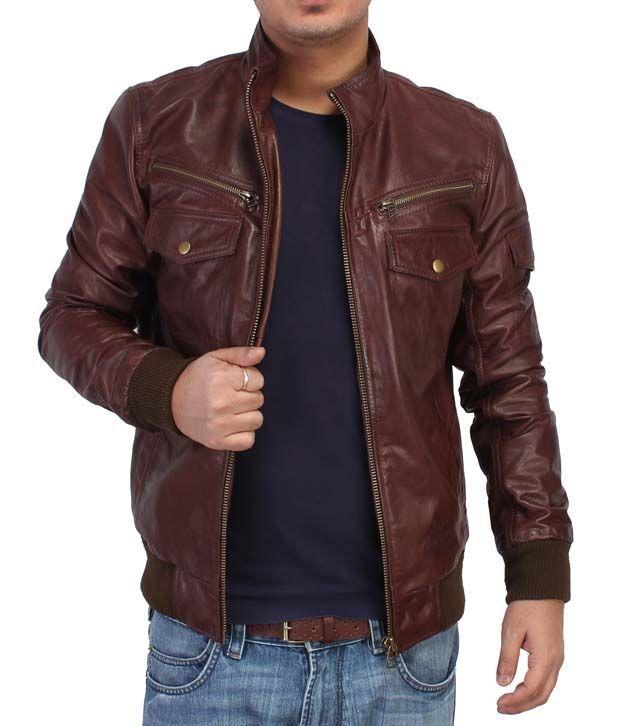 Bareskin Brown Gents Leather Jacket - Buy Bareskin Brown Gents