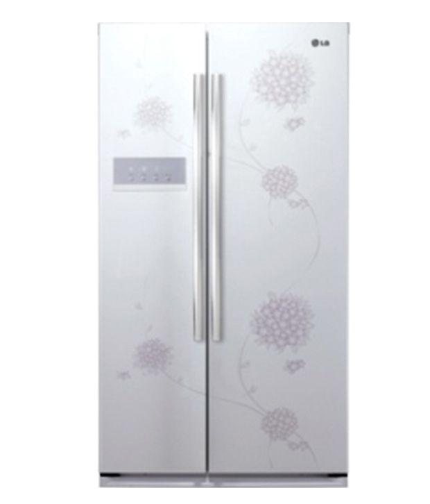 LG 581 Ltr GC-B207GPQV Side By Side Refrigerator Bouquet White