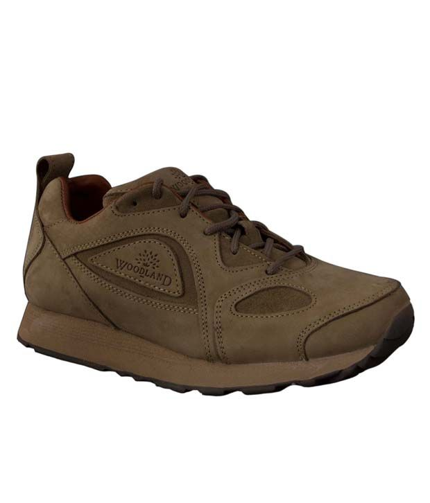 Woodland Relaxing Khaki Outdoor Casual Shoes - Buy ...