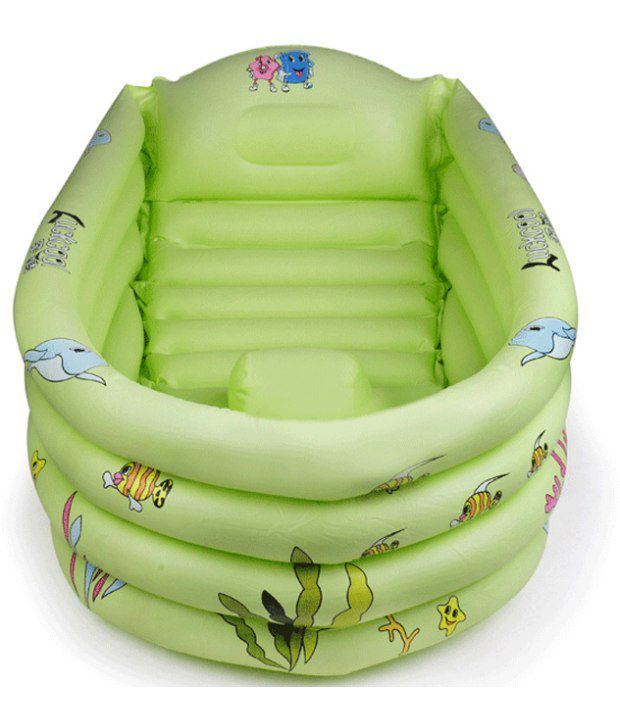big thick green inflatable baby bath tub buy big thick green inflatable bab. Black Bedroom Furniture Sets. Home Design Ideas