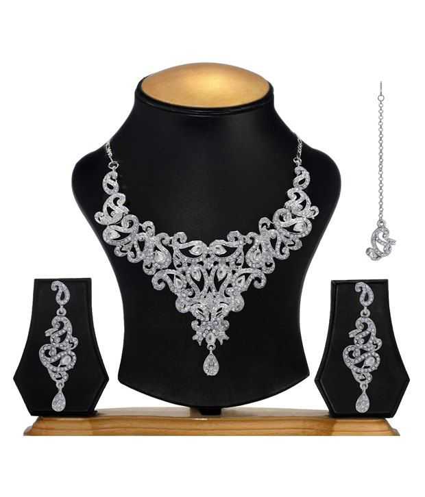 Ethnic Jewels AD Pretty Necklace Set
