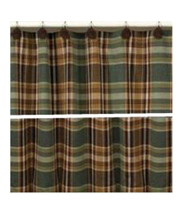 Park Designs River Wood Plaid Shower Curtain