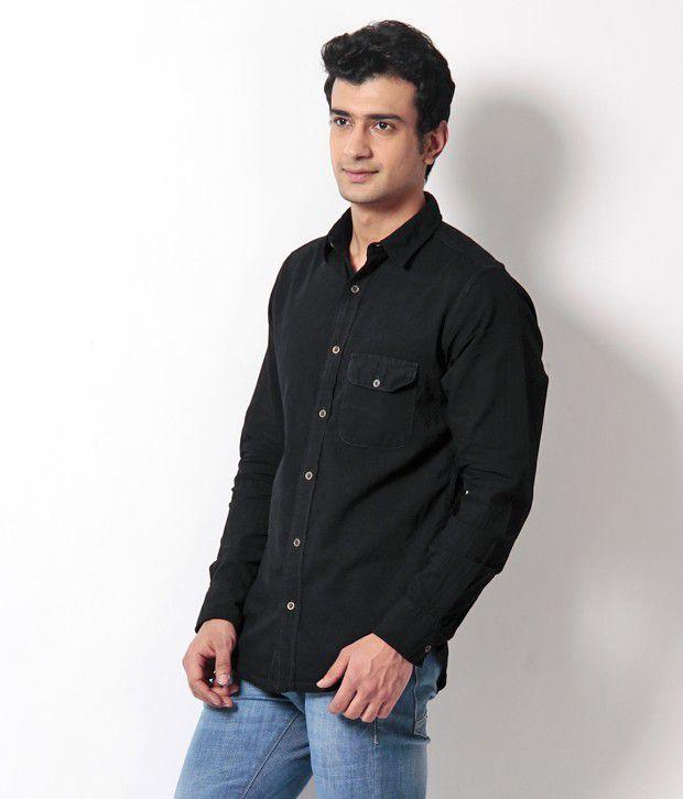 17ba8c40e54 Silver Streak Black Denim Shirt - Buy Silver Streak Black Denim ...