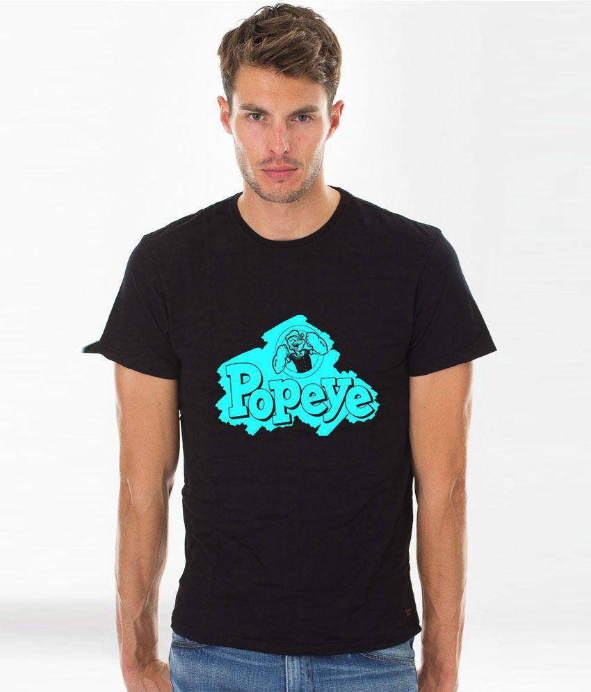 Sportzone Black Popeye Printed T-shirt