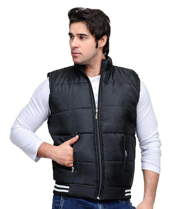 TSX Black Sleeveless Jacket