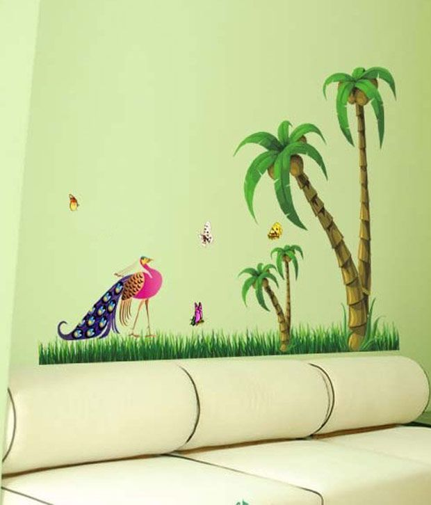 wow interiors and decors peacock cocount tree wall