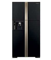 Hitachi 638 Ltr R-W720FPND1X - GBK- Side By Side Refrigerator Glass Black