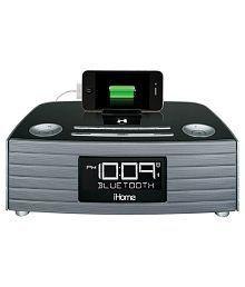 iHome Bluetooth Speaker Phone Stereo/USB Charging/FM Alarm Clock Radio Combo With Purple Sling Bag-iBT97-TB135PR