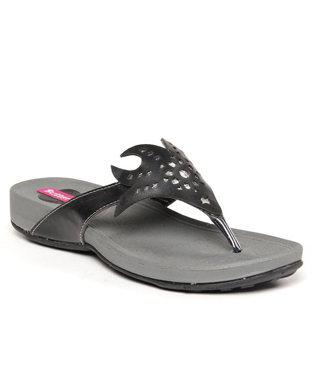 Butterfly Comfortable Black Flats
