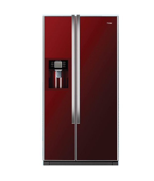 haier 556 ltr hrf663irg side by side refrigerator red price in india buy haier 556 ltr. Black Bedroom Furniture Sets. Home Design Ideas