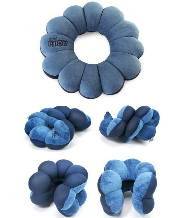 Urban Living Total Pillow for Neck Round flower shaped
