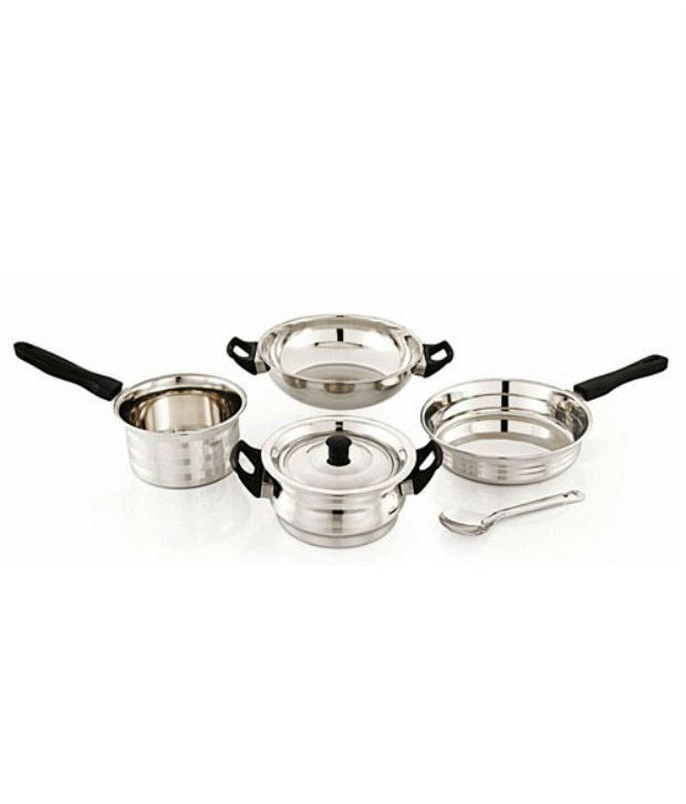 mahavir 6pc induction lpg compatible cookware set buy online at best price in india snapdeal. Black Bedroom Furniture Sets. Home Design Ideas