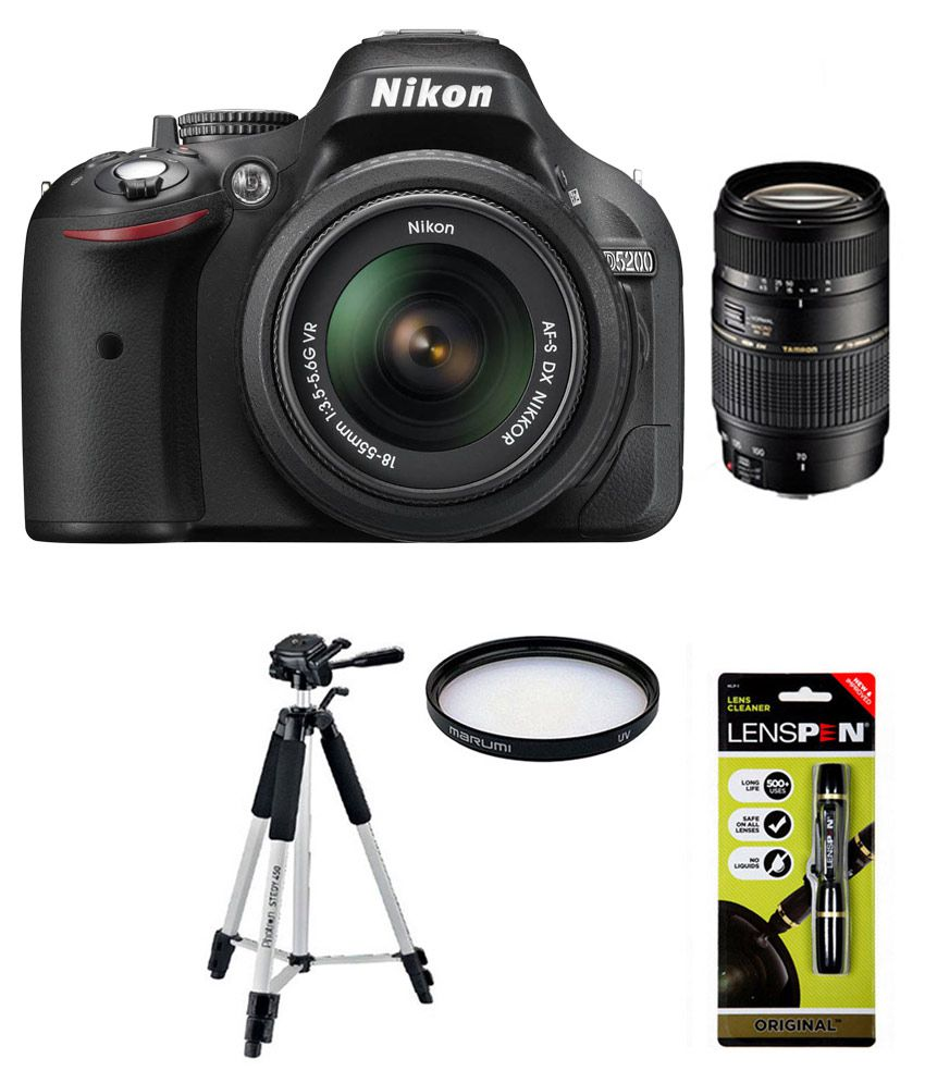 Nikon D5200 with 18-55mm + Tamron 70-300mm Lens Combo (Tripod + Lens Filter +  Lens Cleaning Kit)