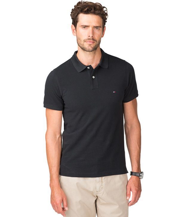 26a7e4bb Tommy Hilfiger Black Polo T Shirt - Buy Tommy Hilfiger Black Polo T Shirt  Online at Low Price - Snapdeal.com