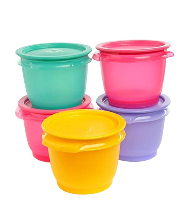 Tupperware One Touch Bowls Set Of 5 600 Ml Each