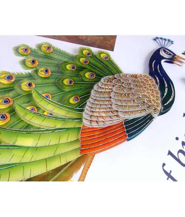 wow interior 3d peacock wall sticker - buy wow interior 3d peacock