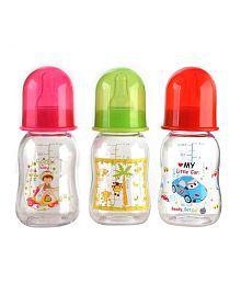 Mee Mee Baby Feeding Bottle_125ml_Pink/Red_Pk-3