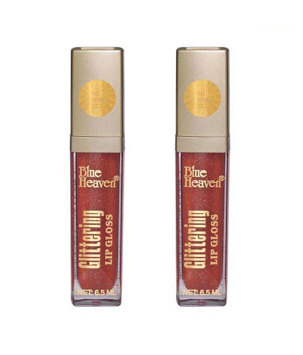 Blue Heaven Glittering Lip Gloss Tangy Orange-503 (SD Pack of 2) 6.5 ml Each
