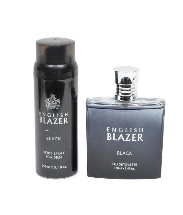 English Blazer Black Men G/Set (Edt100ml +Deo 150ml)