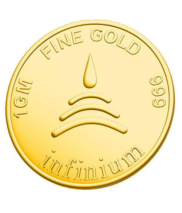 Infinium 24kt 1g 999 Purity ASSAY Certified Flower Gold Coin