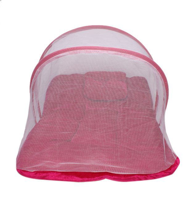 Isabelle Pink Mattress & Pillow With Mosquito Net