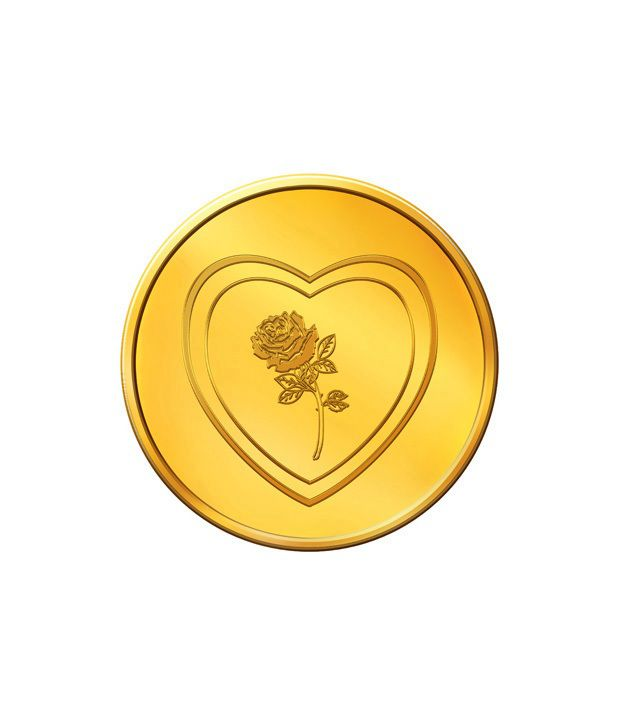 MNC 5 Gm 24kt Hallmarked Valentine Gold Coin With 995 Fineness