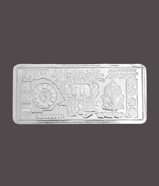 Revlis 50 Gram Rectangle Silver Coin - NOTE50