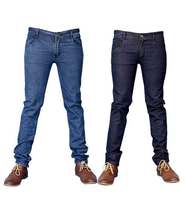 Coaster Blue Men's Denim Combo  Of 2