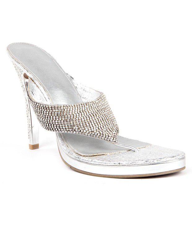 Reyna Charismatic Silver Heeled Slip On