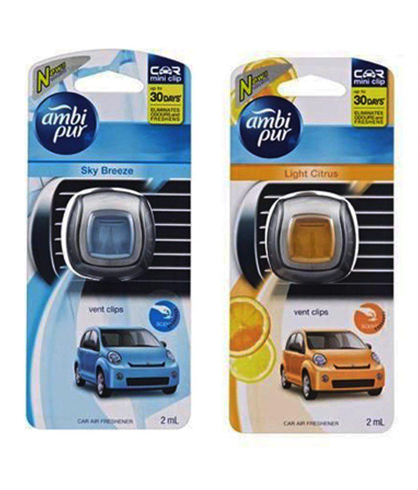 Ambipur car perfume ac mini vent clip perfume light citrus