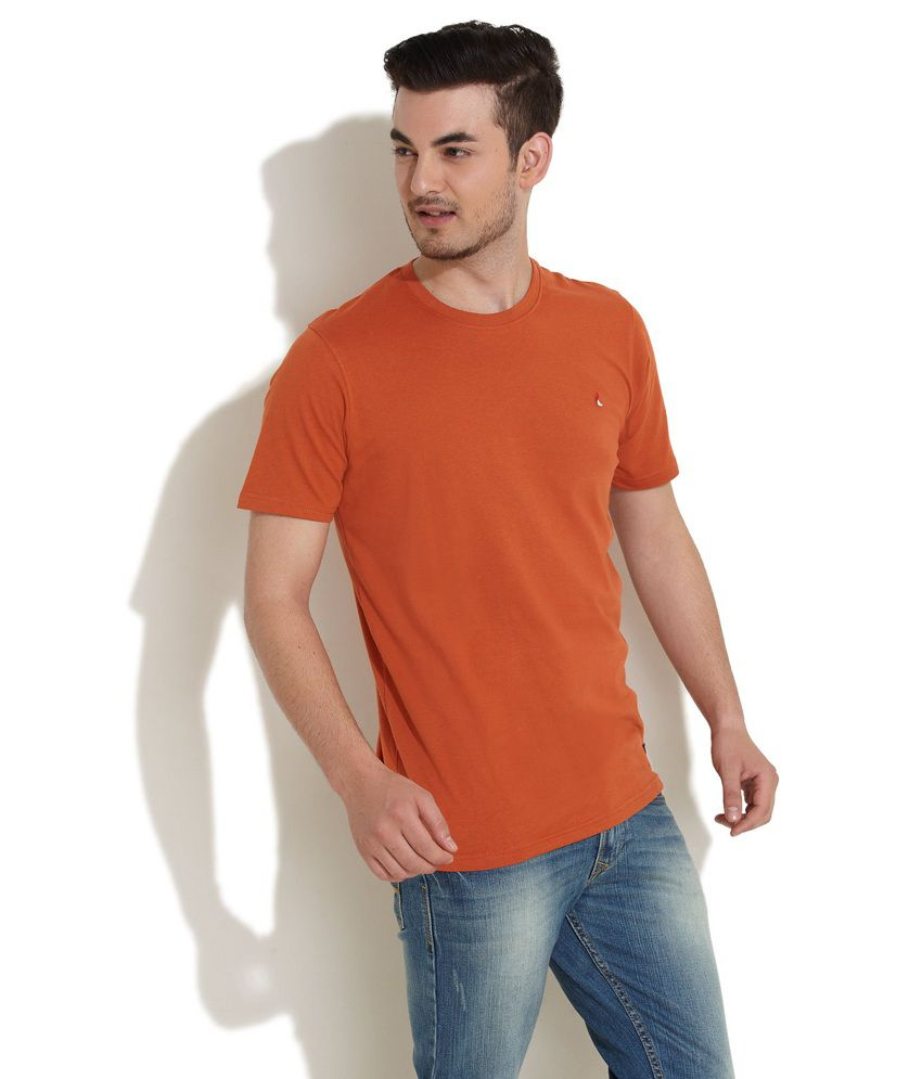 Checks And Squires Tangerine Twist Orange T-Shirt