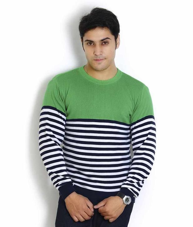 Globus Green Full Cotton Round  T-Shirt