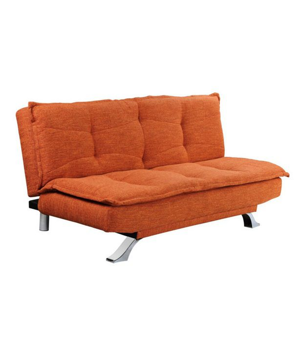 Cosy Supersoft Sofa Bed Orange