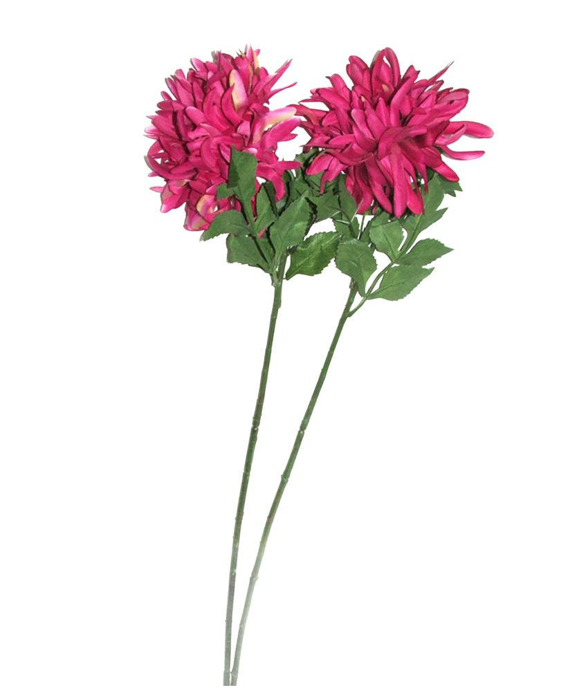 Fourwalls Single Pink Crysthanamum Artificial Flower Set Of 2 Buy