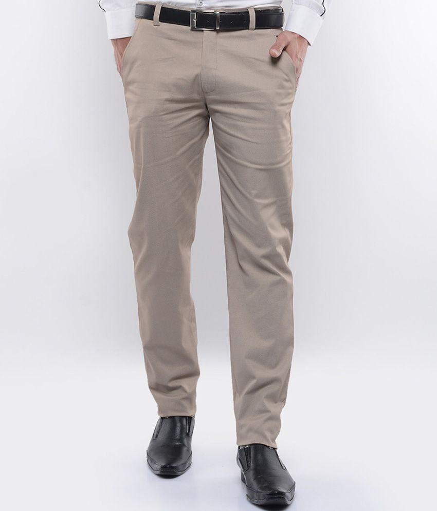 I Know Brown Slim Fit Trouser