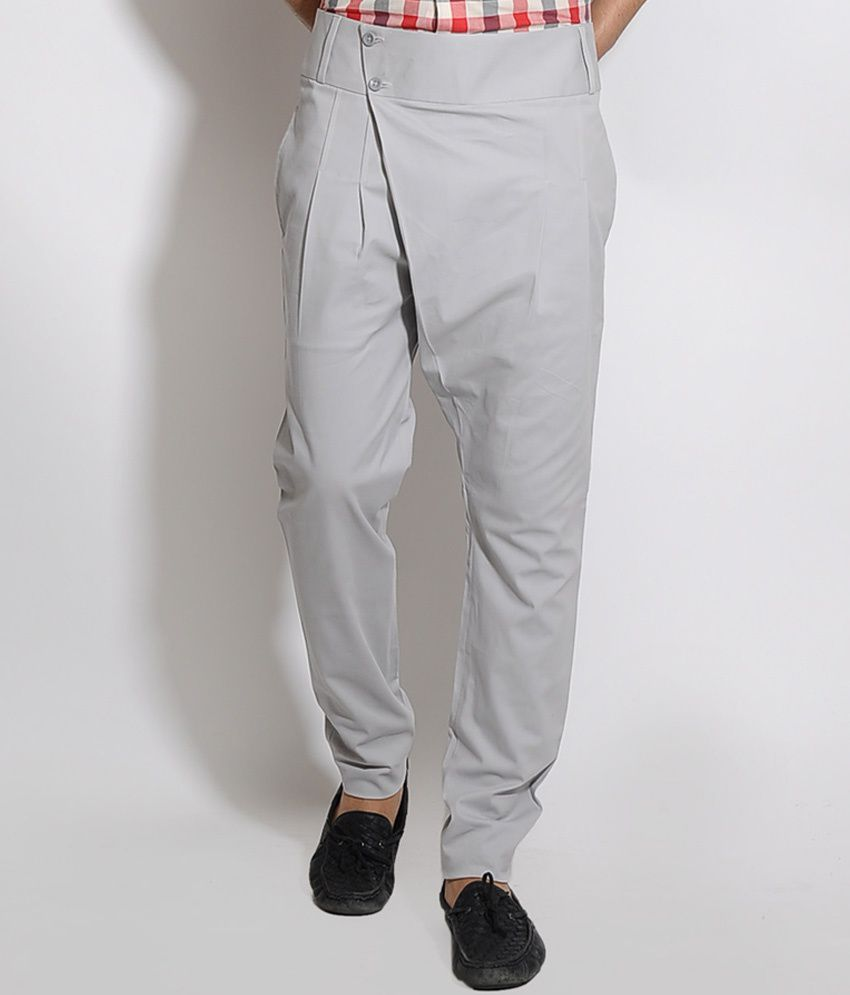 I Know Grey Overlap Trouser