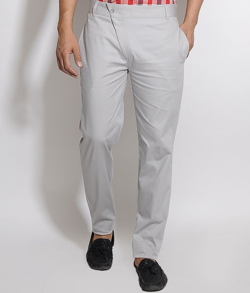 I Know Grey Tilted Fly Trouser