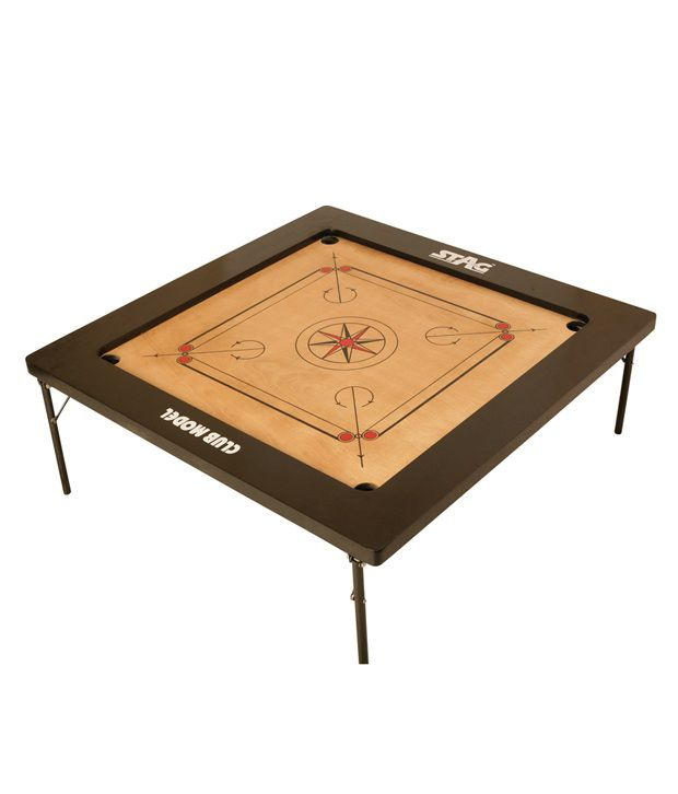 Stag Club Model Carrom Board With Low Stand And Coins