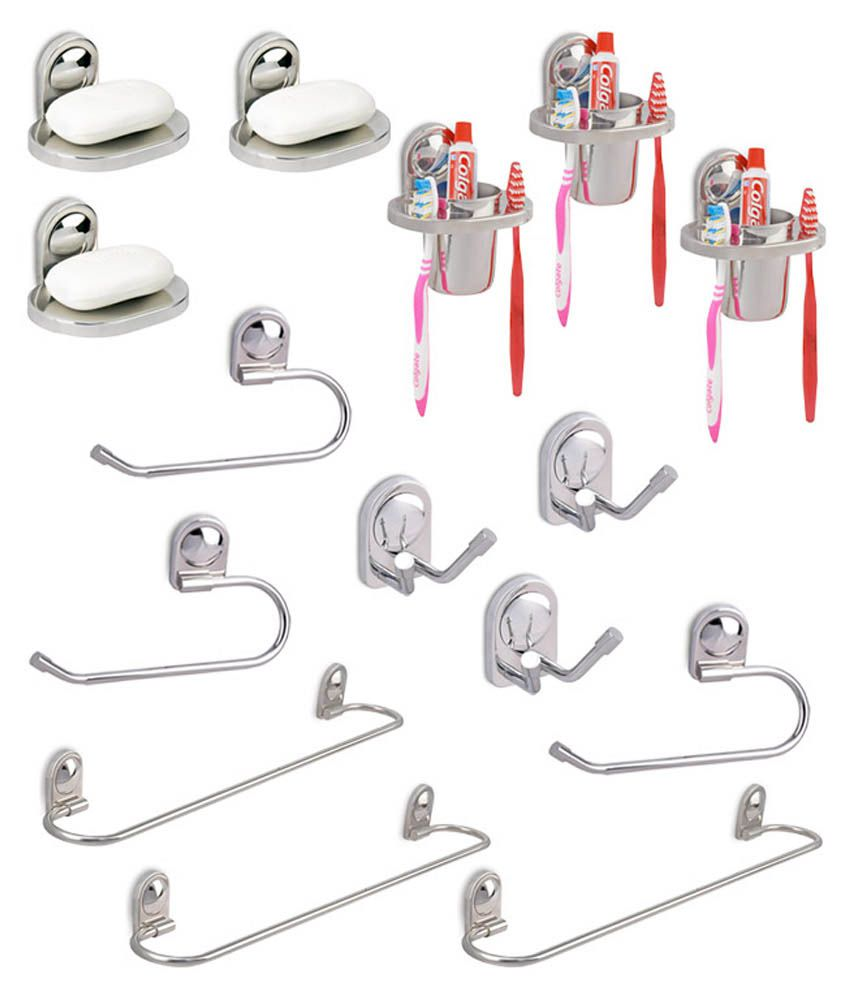Buy doyours 3 sets of dolphin 5pcs bathroom accessories for Bathroom accessories for elderly in india