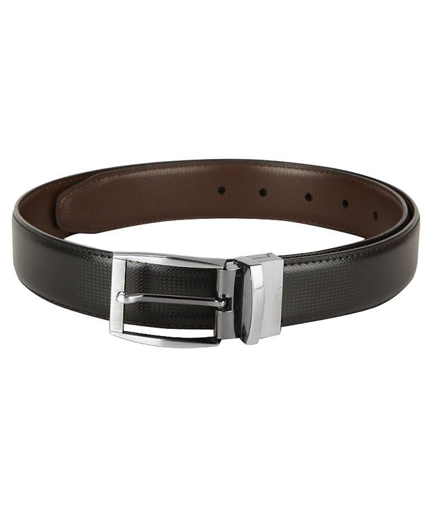 Frenzi Formal Black & Brown Reversible Belt For Men
