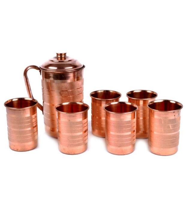Drinking Water In A Copper Glass