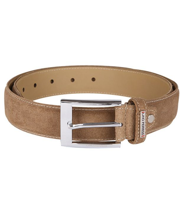 Lino Perros Formal Beige Single Belt For Men