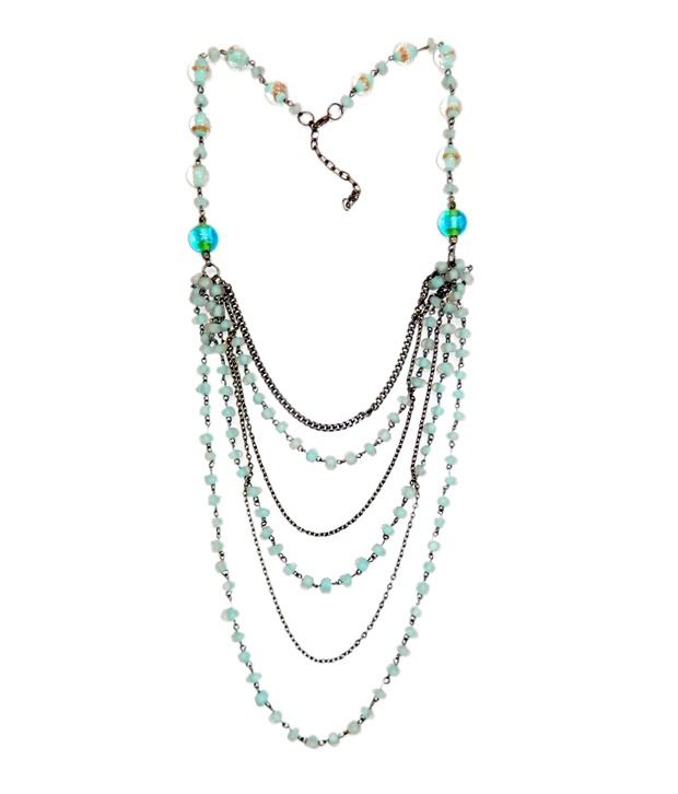 Loran Handicraft Blue Coloured Necklace