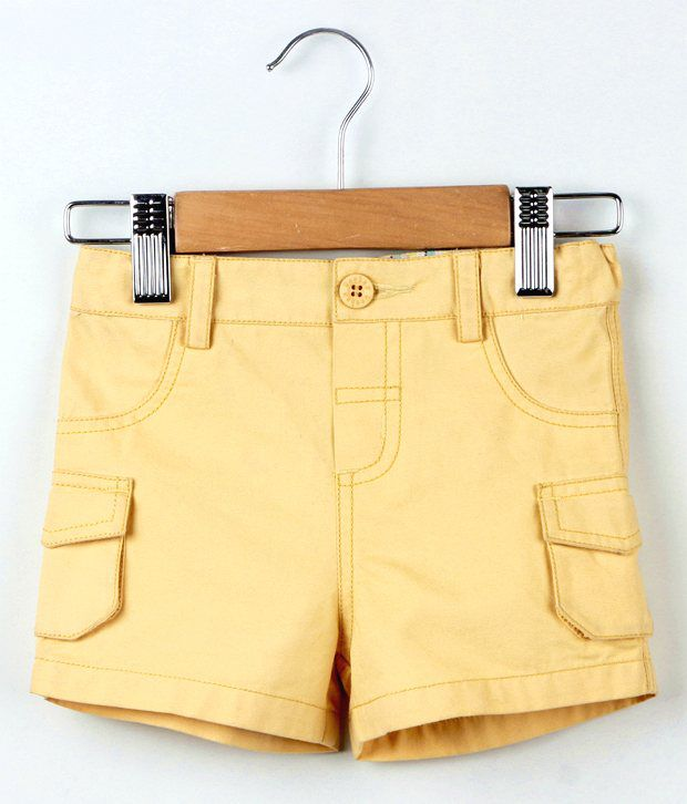 Beebay Yellow Color Basic Shorts For Kids