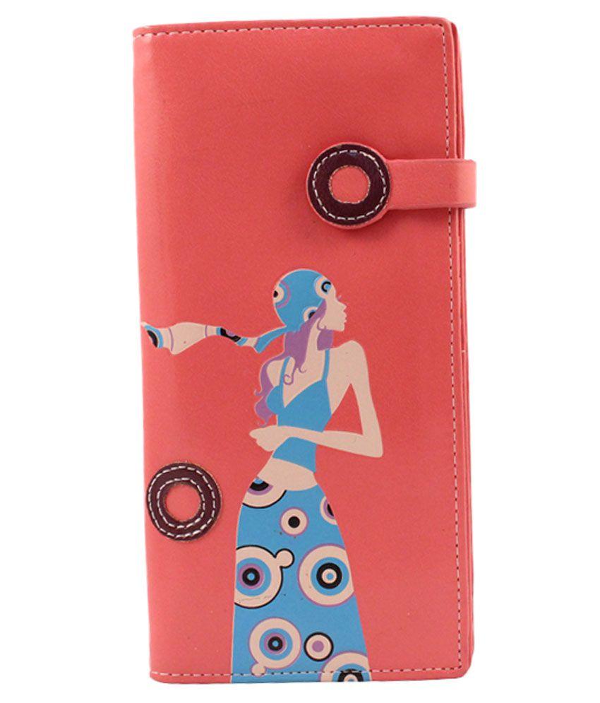 Itzmyfashion Pink Non Leather Fashionable Women Wallet