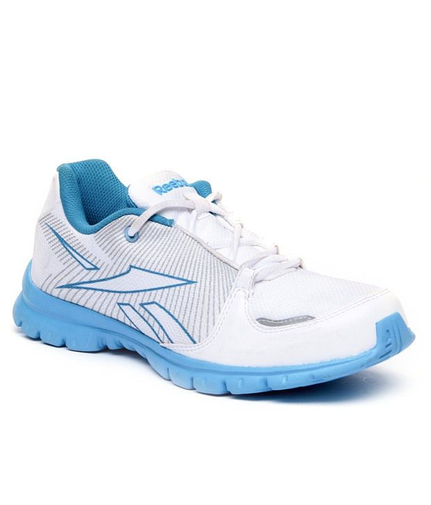 39d702d66ebc Reebok White   Blue Sports Shoes - Buy Reebok White   Blue Sports Shoes  Online at Best Prices in India on Snapdeal