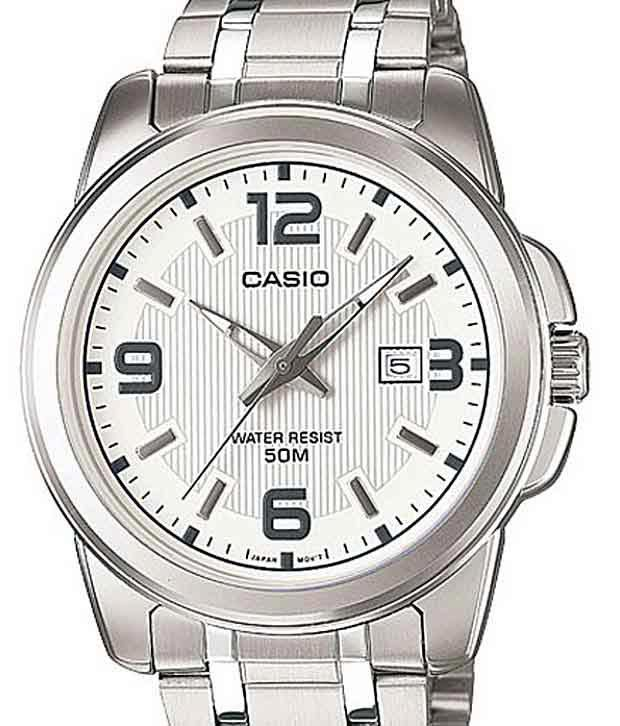 5550ef58670 Casio Ravishing White   Silver Wrist Watch For Men - Buy Casio Ravishing  White   Silver Wrist Watch For Men Online at Best Prices in India on  Snapdeal